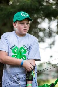 4-h archery student