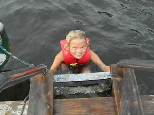 4-H Camper enjoying a swim