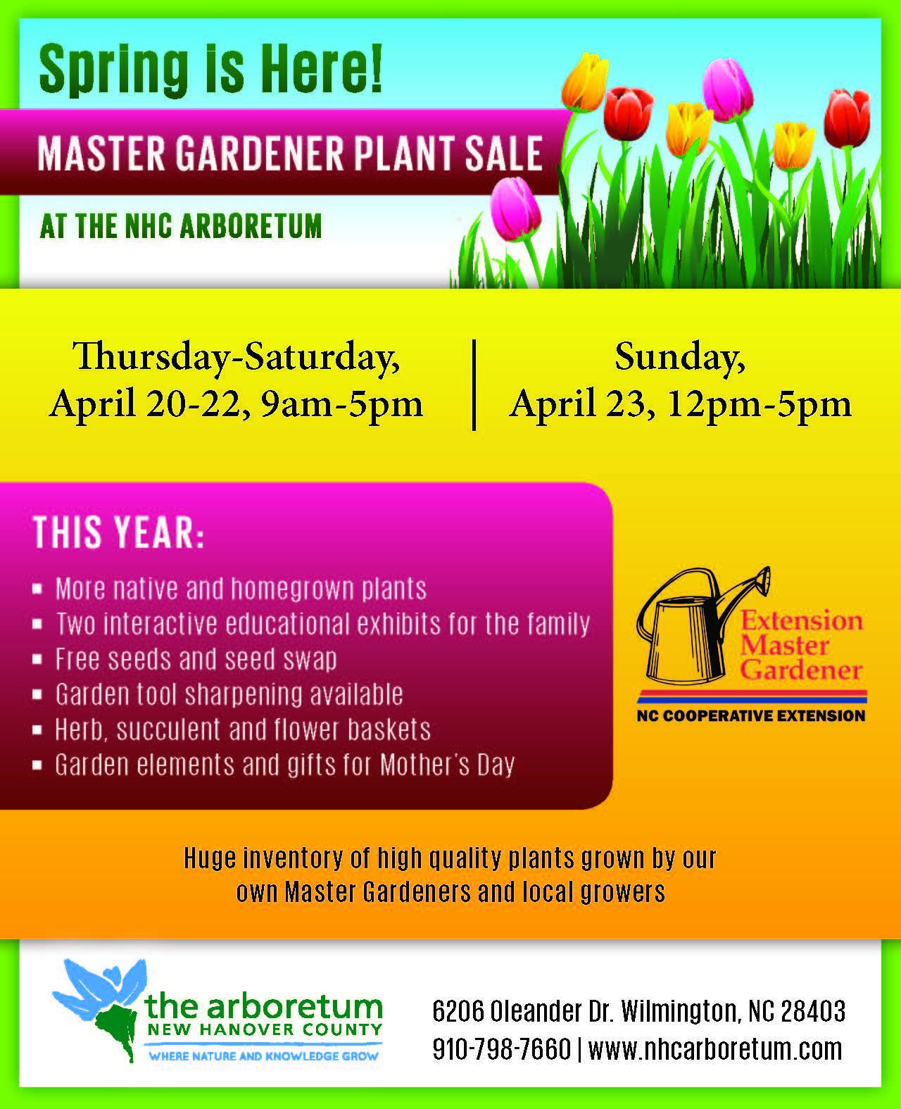 2017 New Hanover County Master Gardener Plant Sale North Carolina Cooperative Extension