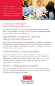 Scholarship opportunities flyer page 2