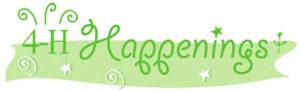 4-H Happenings banner