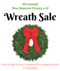 Cover photo for 8th Annual New Hanover Co. 4-H Wreath Sale