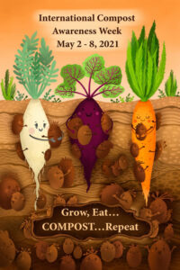 poster showing vegetables in the ground